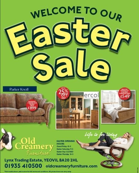 Easter Sale now on at the Old Creamery