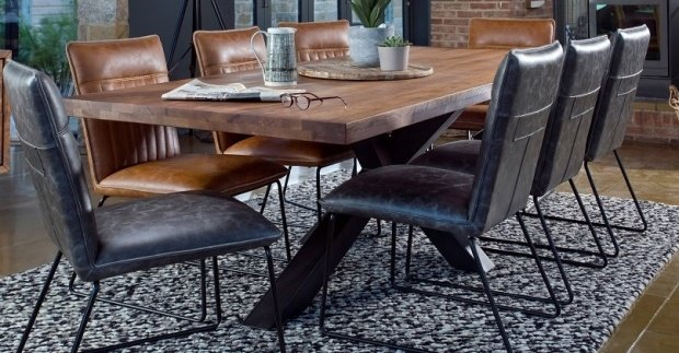 Industrial style dining & living furniture